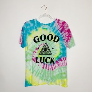 Truly madly deeply custom tie-dye graphic tee S